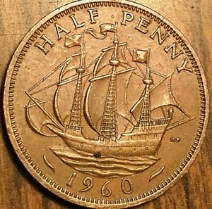1960 UK GREAT BRITAIN HALF PENNY