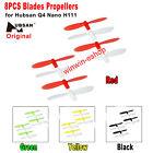 8PCS Hubsan Q4 Nano H111 Original Rotor Blades Propellers Quadcopter Spare Parts