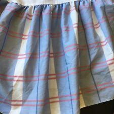 Vintage Allyson Kent Twin Petticoat Bedskirt Blues Pink Plaid Romantic Cottage