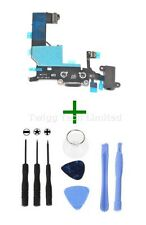 For iPhone 5 Black Charging Port + Tools - Replacement Charger Flex USB Dock