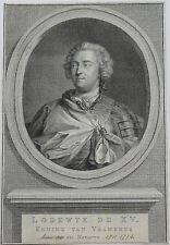 Eau-forte et Burin, J.Houbraken(1698-1780), Louis XV, dit le « Bien-Aimé »