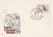 Innsbruck Austragungsort der IX Olympischen Winterspiele 1964 mit Sonderstempel