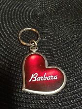 "Collectible VINTAGE Heart Shaped ""Barbara"" Keychain"