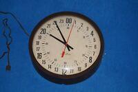 .Vintage Seth Thomas MANAGER 24 hour MILITARY Wall Clock 110V
