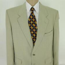 44 R Farah Ivory Beige Poly Rayon 2 Btn Mens Summer Jacket Sport Coat Blazer
