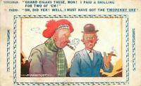 D Tempest~Scotchman With Grand Cigars~Gives Friend the Cheap One~Bamforth Comic
