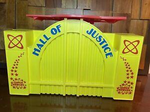 VINTAGE 1985 KENNER SUPER POWERS HALL OF JUSTICE COMPLETE HQ FOR BATMAN SUPERMAN