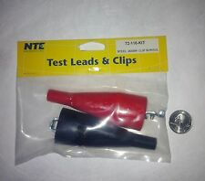 Test Leads 25 amp NTE full insulator boot NEW