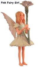 Retired Cicely Mary Barker PINK GIRL Flower Garden Fairy Ornament NIB!