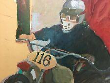 """Moto Cross"" Original Mixed media on board Artist unknown"