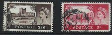 Great Britain Scott #309-10, Singles 1955 Fvf Used