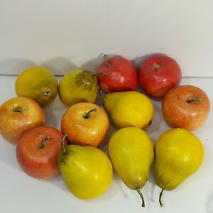 12 - Faux Fruit pottery barn? Realistic Red 6 Apples and 6 Ripe Yellow Pears