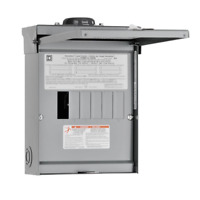 Square D Homeline 100 Amp 6-Space 12-Circuit Outdoor Main Lug Load Center Power