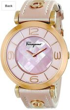 Ferragamo FG3030014 Lady's Pink Leather Strap MOP Dial Swiss Watch