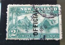 New Zealand 1907-11 Pictorials Official 2/- Milford used