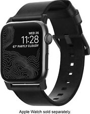 Leather Nomad Modern Strap for Apple Watch 42mm 44mm Black Band