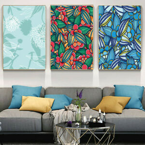 Colorful Pattern Plants Covered Canvas Print Poster Picture Wall Home Decor