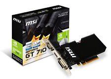 MSI GeForce GT 710 1GD3H LPV1 Graphics Card, Fanless Heatsink, Low Profile