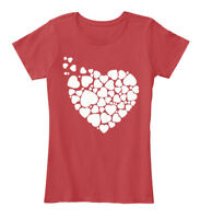 Hearts For Valentine Women's Premium Tee T-Shirt