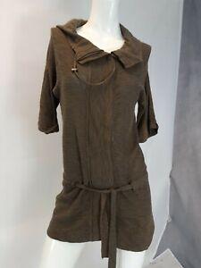 Ann Taylor Loft Top Size S khaki brown green