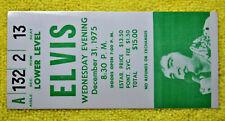 Original Elvis Presley Concert Ticket Stub Pontiac Silverdome 12/31/1975. Mint