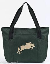 Horse Print Equestrian Showjumper Tote Bag - Green