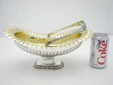 Danish Sterling Silver Basket Center Piece with Gold Wash Hallmarked Foght 1832