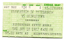 1987 Pitt v Georgetown Basketball Ticket January 10 909