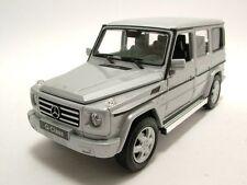 WELLY 1:24 2012 MERCEDES-BENZ G-CLASS G WAGON SUV DIECAST MODEL SILVER 24012W-SL