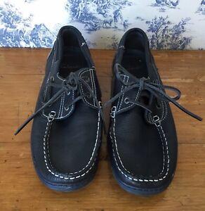 Mens CLARKS Navy Blue Leather Deck - Boat Shoes Size UK 9