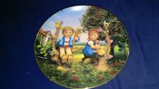 Hummel Apple Tree Boy and Girl Collector Plate '91 Little Companions Collection