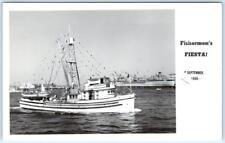 RPPC  SAN PEDRO, California CA   FISHERMEN'S FIESTA  Boat Del Rio 1950 Postcard