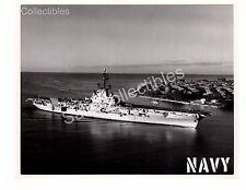 US Navy Aircraft Carrier USS Ticonderoga CVA-14 Official Photo 8x10