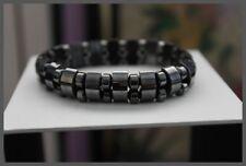 Hematite Bead Elastic Fashion Bracelet