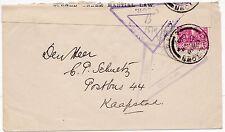 * 1902 Boer WAR Cape Town passati stampa censura & APERTO SOTTO LEGGE MARZIALE etichetta