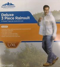 RAINSUIT NORTHWEST TERRITORY 3 PIECE DELUXE CLEAR LARGE / X LARGE~FREE SHIPPING