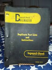 1957 to 1959 Ingersoll Rand Operating Instructions compressor, drillmaster etc.