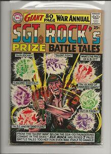 Sgt. Rock's Prize Battle Tales 1 VG 4.0 Joe Kubert & Russ Heath 1964