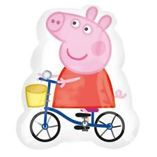 "PEPPA PIG PARTY SUPPLIES 32"" PEPPA PIG ON A BICYCLE STREET TREAT FOIL BALLOON"