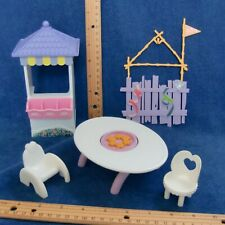 Barbie Kelly Flip Table Chair Clubhouse Fence OK 1:6 Furniture Purple White