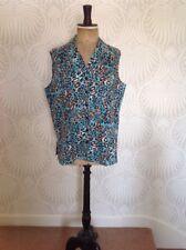 Linen Sleeveless Blouse, Leopard Print, Top, Size XL, Animal Print, *BNWOT*