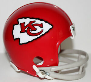 Len Dawson Kansas City Chiefs Riddell Custom Mini Helmet w 2 Bar Facemask