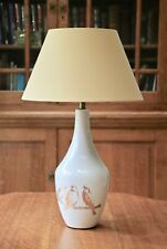 Vintage Laura Ashley white bedside lamp bird decor with new shade