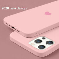 For iPhone 12 mini 11 Pro Max XS XR 8 7 Plus Heart Slim Silicone Soft Case Cover