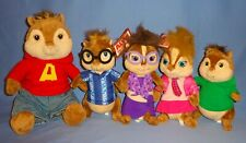 Plush Alvin and The Chipmunks-Alvin-Janette-Brittany-Theodore-Simon-LARGE LOT-5