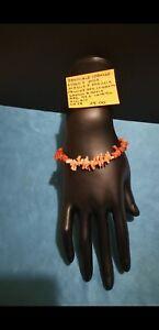 Bracciale corallo rosa e rosso chiusura argento 925