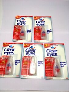 Lot X 5 Clear Eyes gouttes oculaires Lubrifiant anti yeux rouges