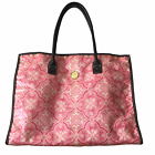 """Anna Griffin Cricut Craft Large 17"""" Tote Sewing Project Scrapbooking Bag Pink"""