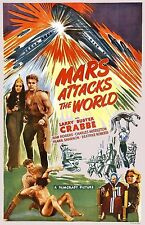 Mars Attacks The World Buster Crabbe Sci-Fi Film Movie Poster Print Picture A3