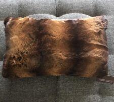 Hudson Park Collection Golden Brown Black Decorative Pillow